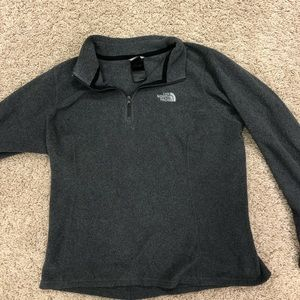 North Face zip up pullover